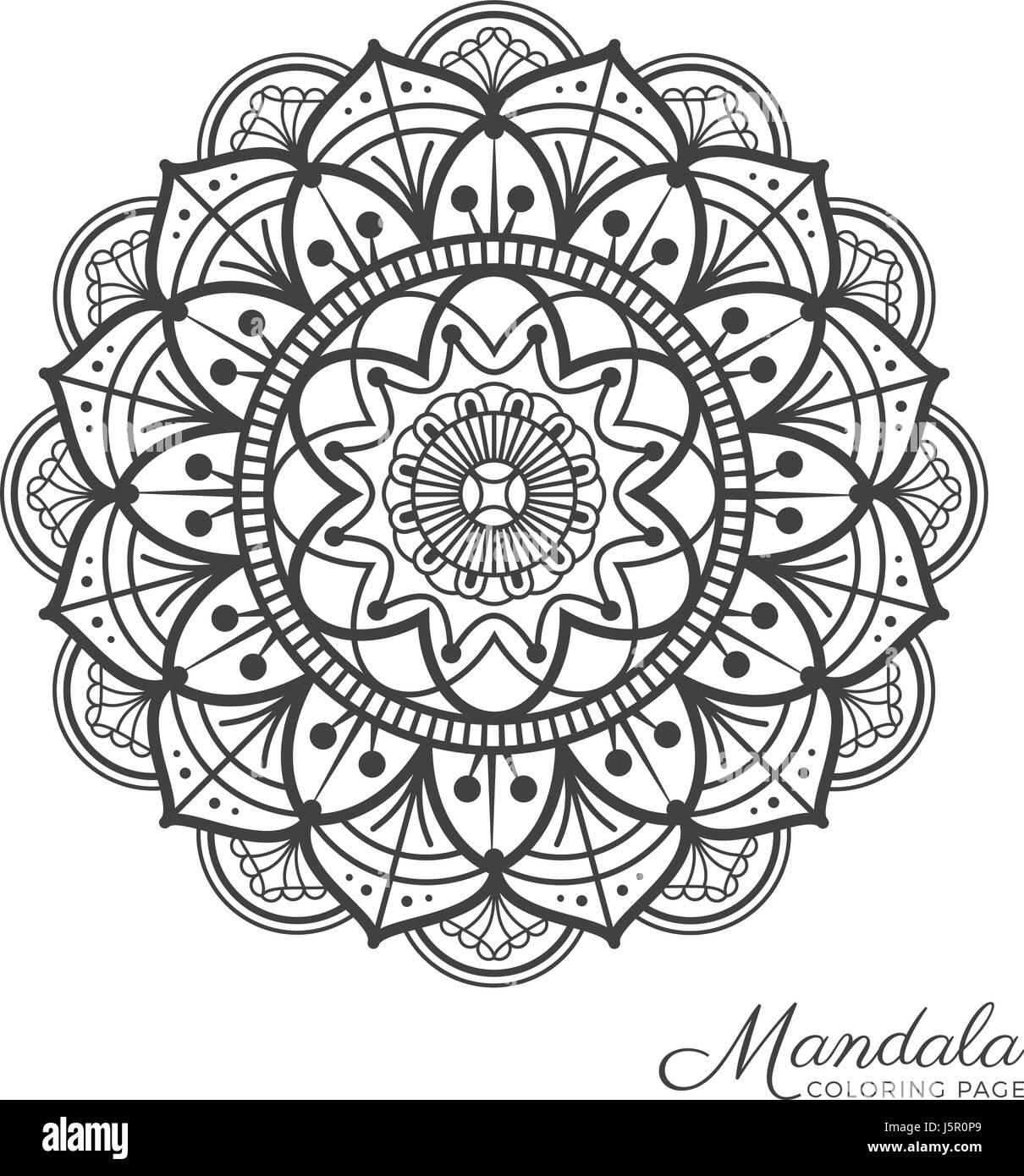 tibetischen mandala dekorative ornament design für