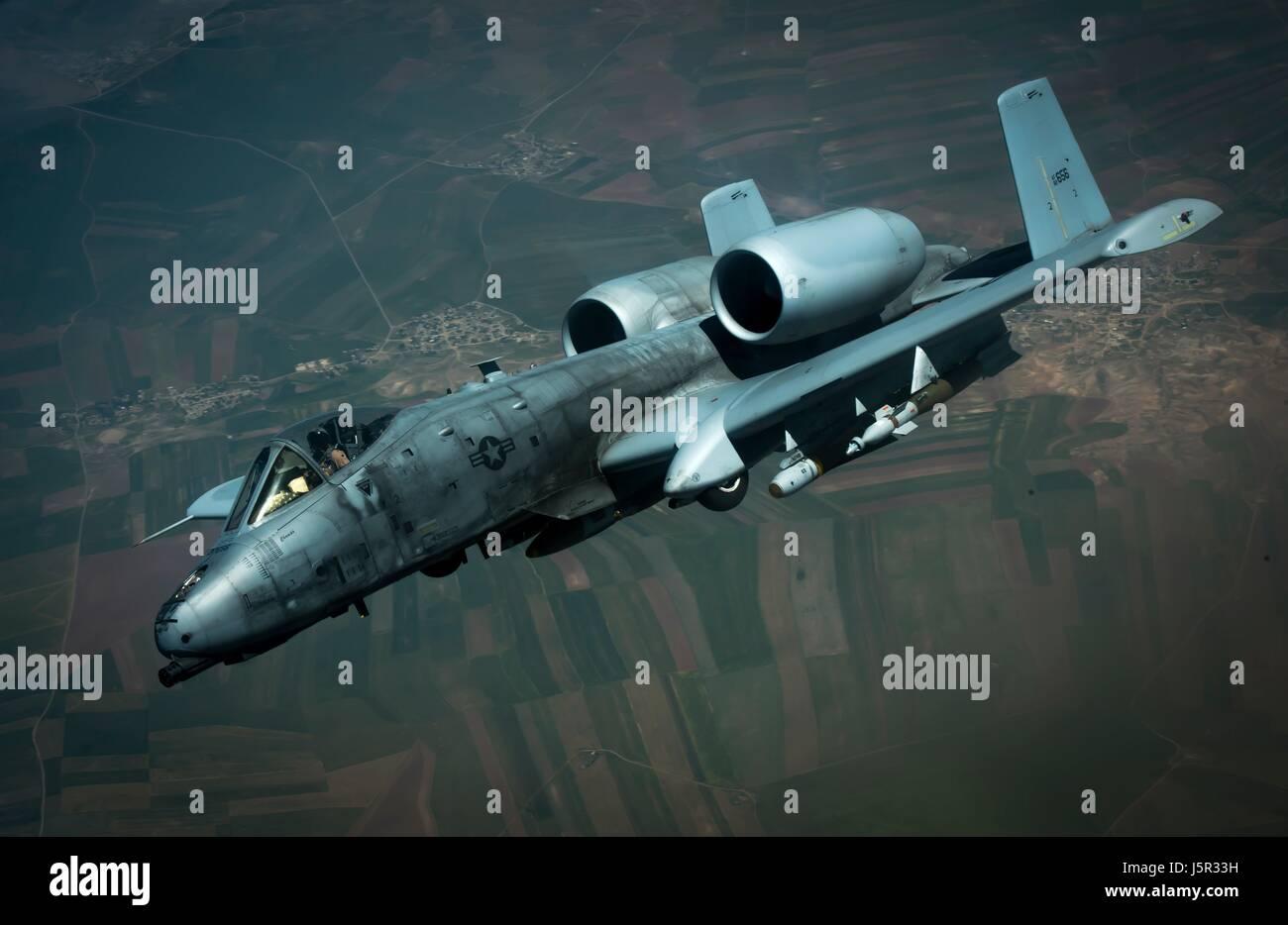 Jet Flugzeug Im Flug Wahrend Einer Operation Inharenten Losen Mission 9 Mai 2017 In Katar Foto Von Michael Schlachten EURO1 Air Force Uber Planetpix