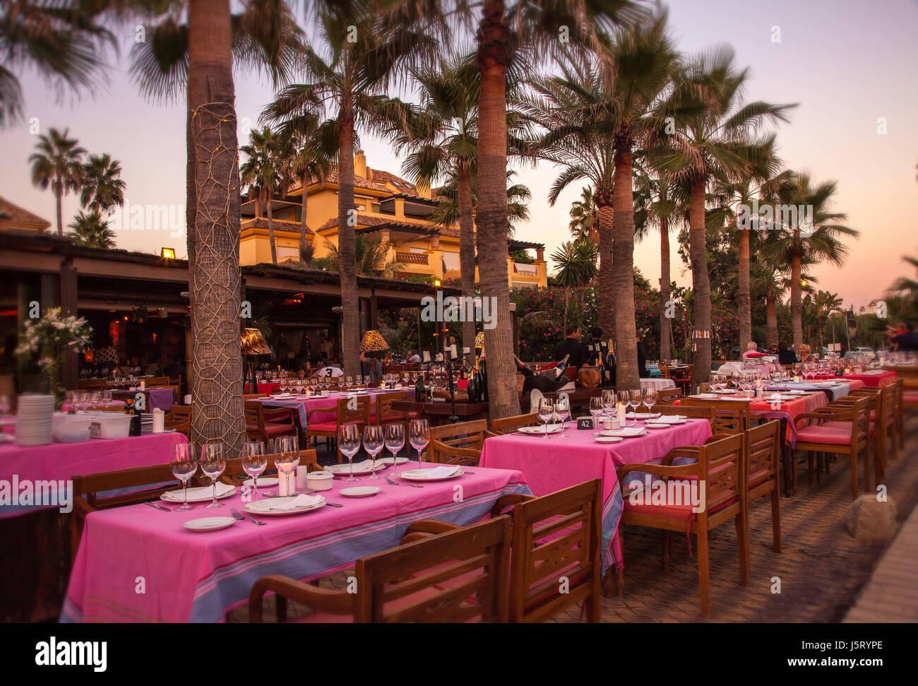 Trocadero Restaurant Arena in Marbella, Spanien. Stockbild