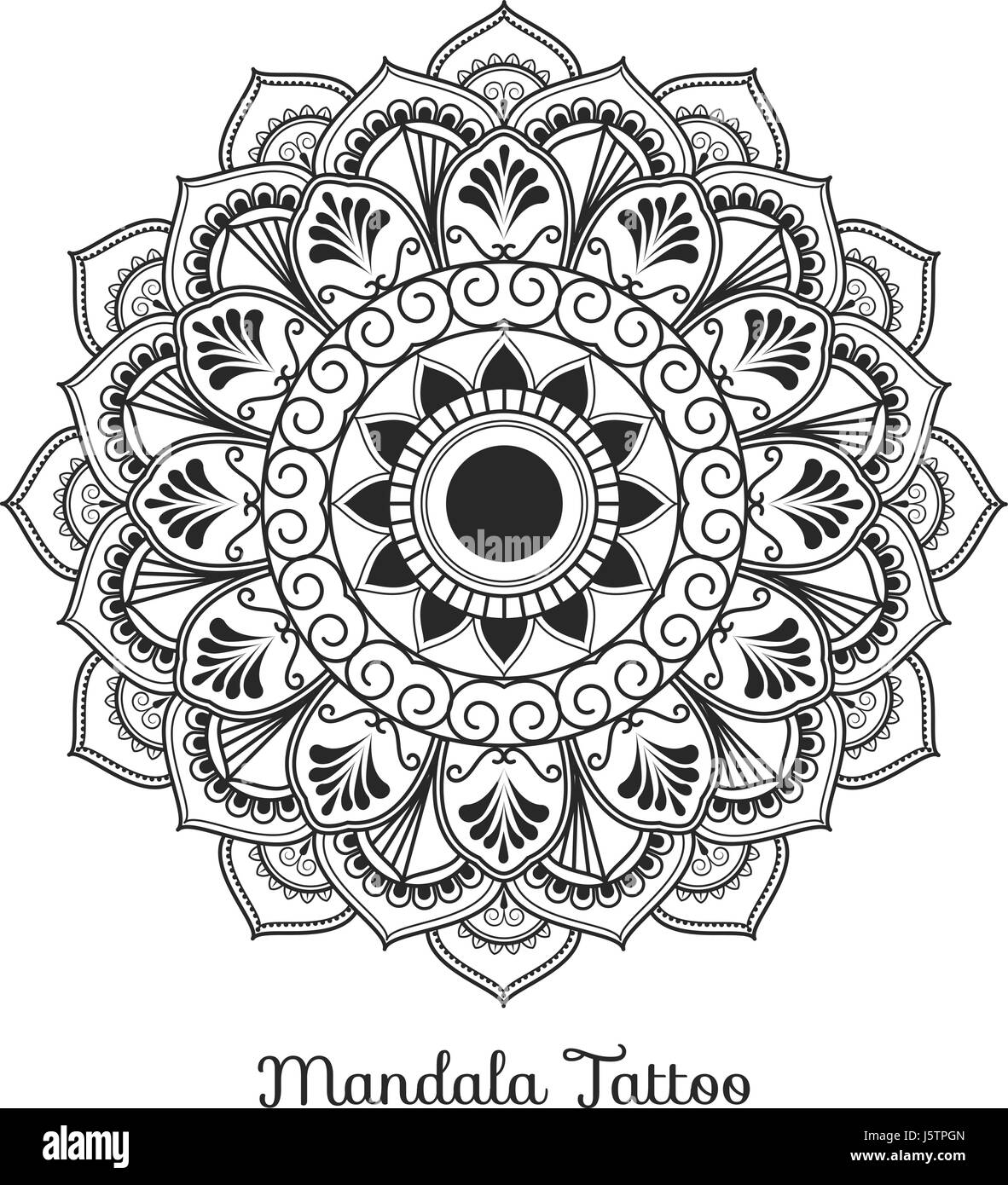 Tibetischen Mandala Dekorative Ornament Design Für Erwachsene