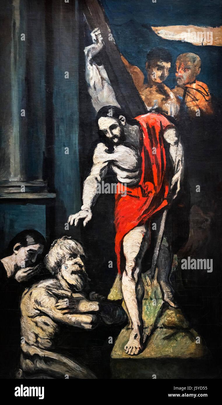 """Cezanne. Gemälde mit dem Titel """"Le Christ Aux Limbes"""" (Christus in der Vorhölle) von Paul Cézanne Stockbild"""