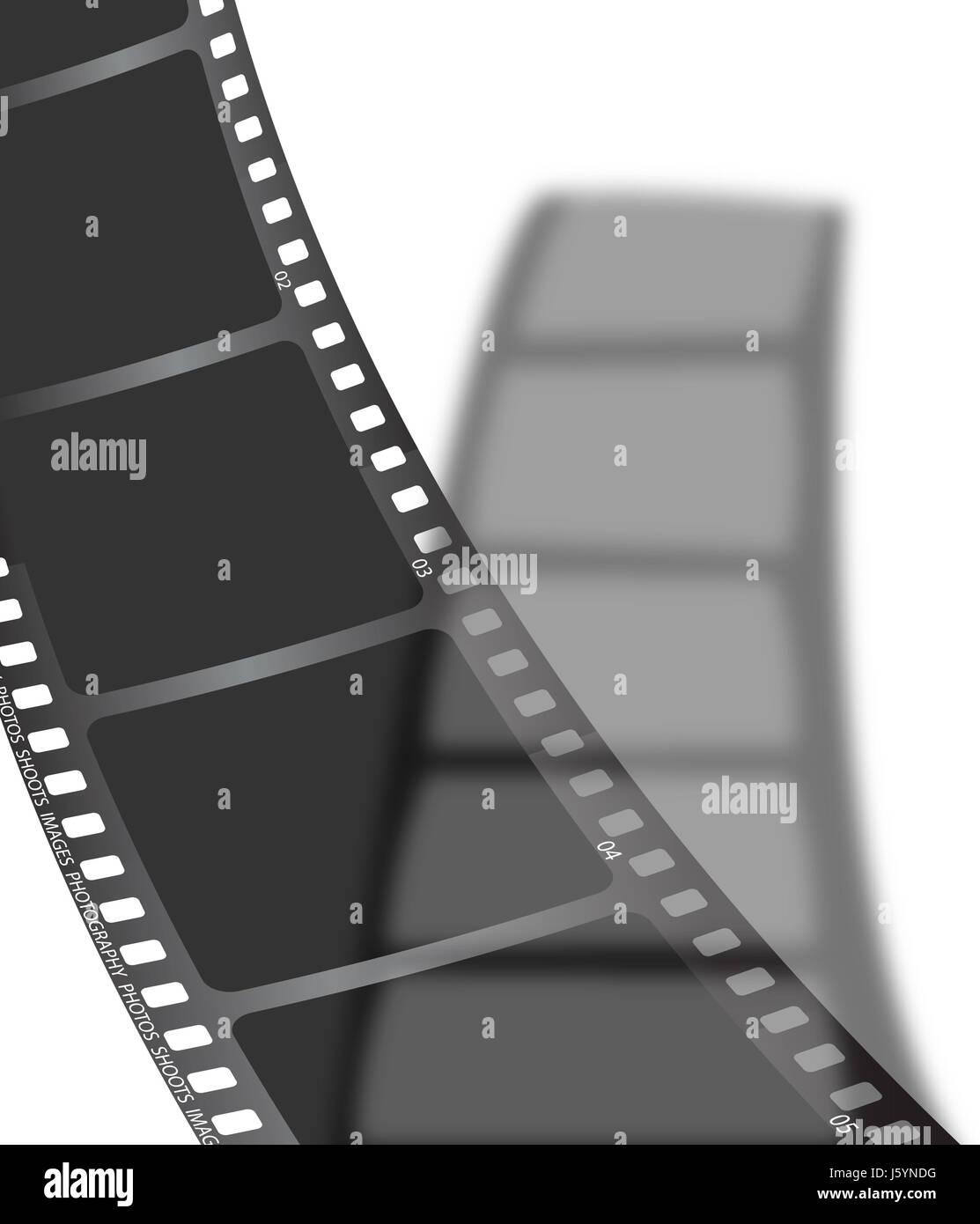 Exposition Gradienten ausgesetzt Frame letzten negativ-Film Film ...