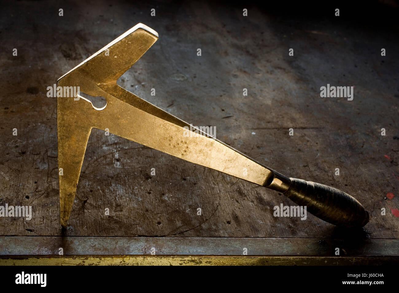 Slater hammer Stockbild