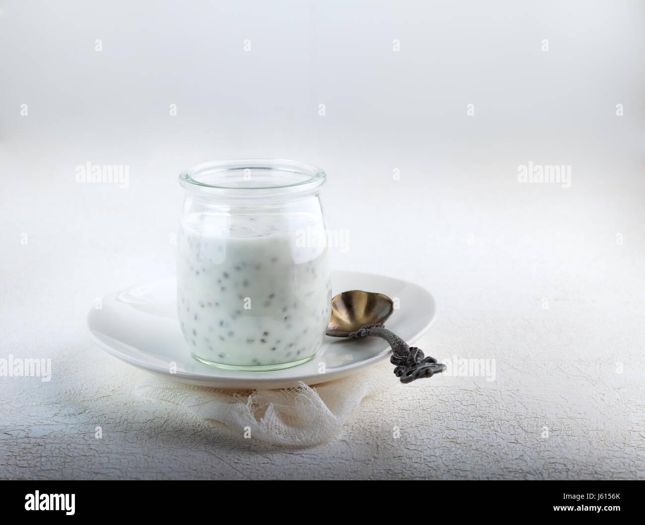 Chia-Samen-Pudding Stockbild