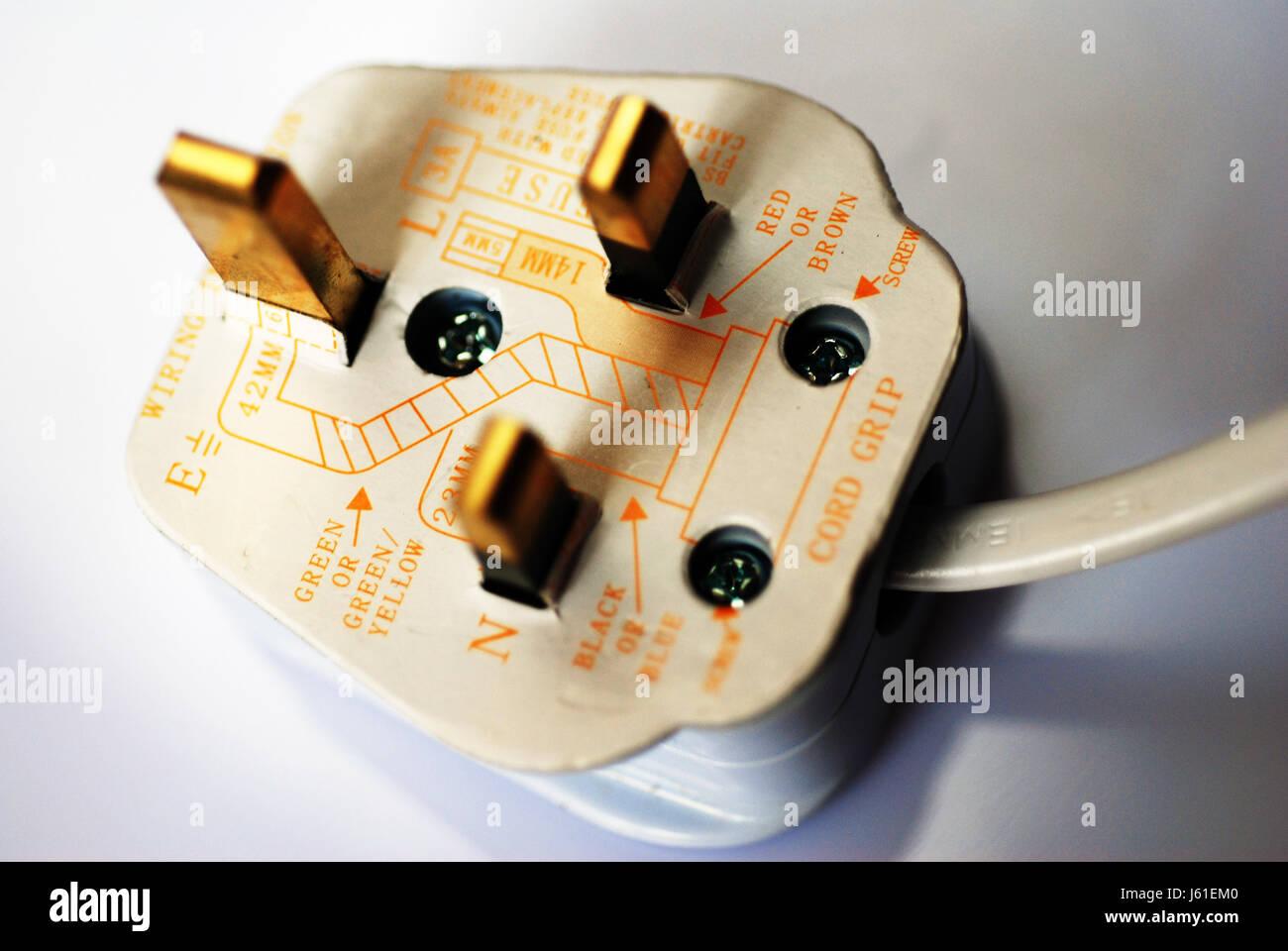 elektrische elektrische britisches Englisch Stecker Buchse heiße ...