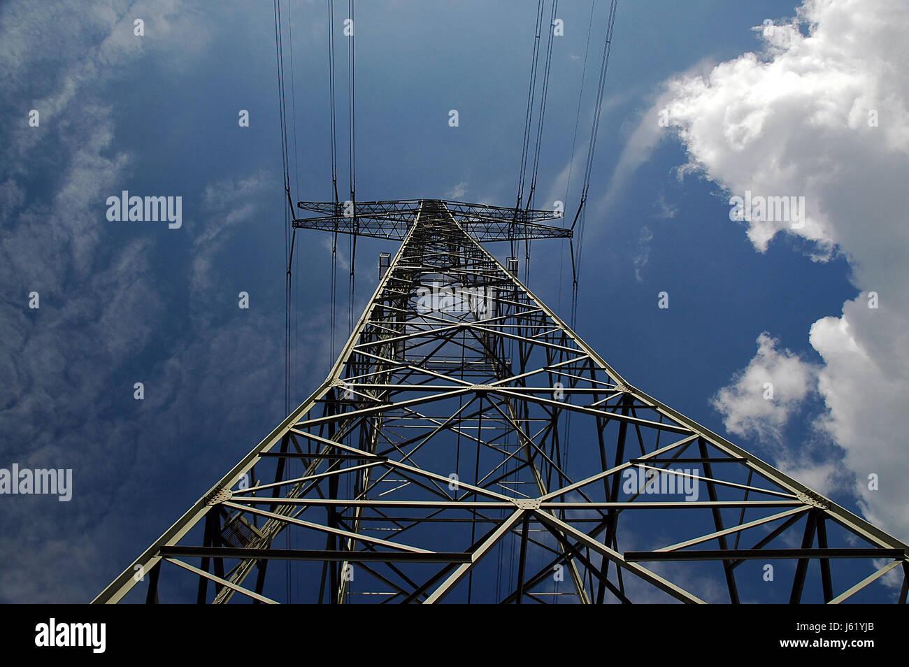 Mast Hochspannung Generator offene Draht Übertragung Linie ...
