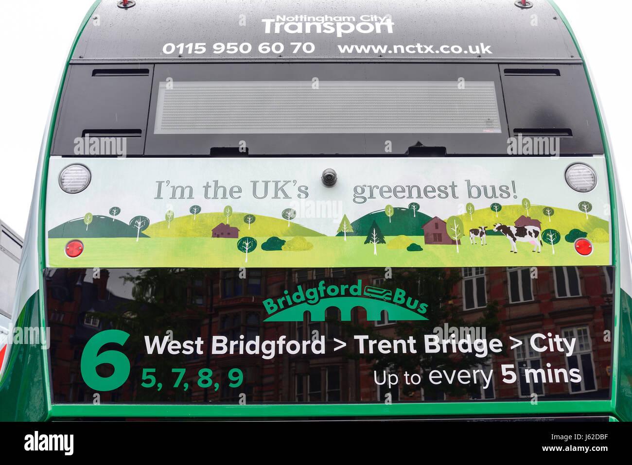 Geschwindigkeit, die westlich von Bridgford nottingham
