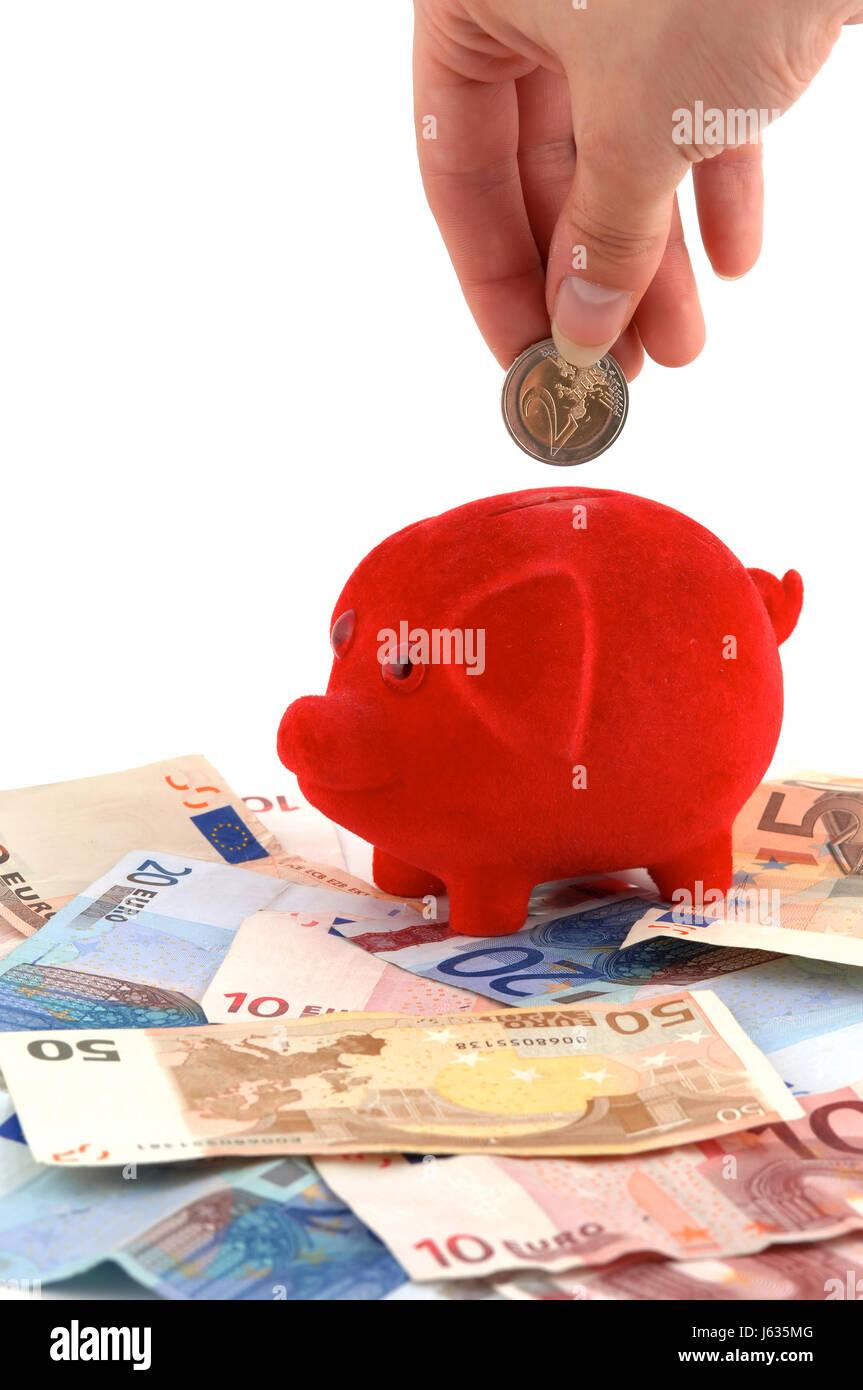 Speichern Sparschwein Einwurf Bieten Isolierten Optional Augen Euro