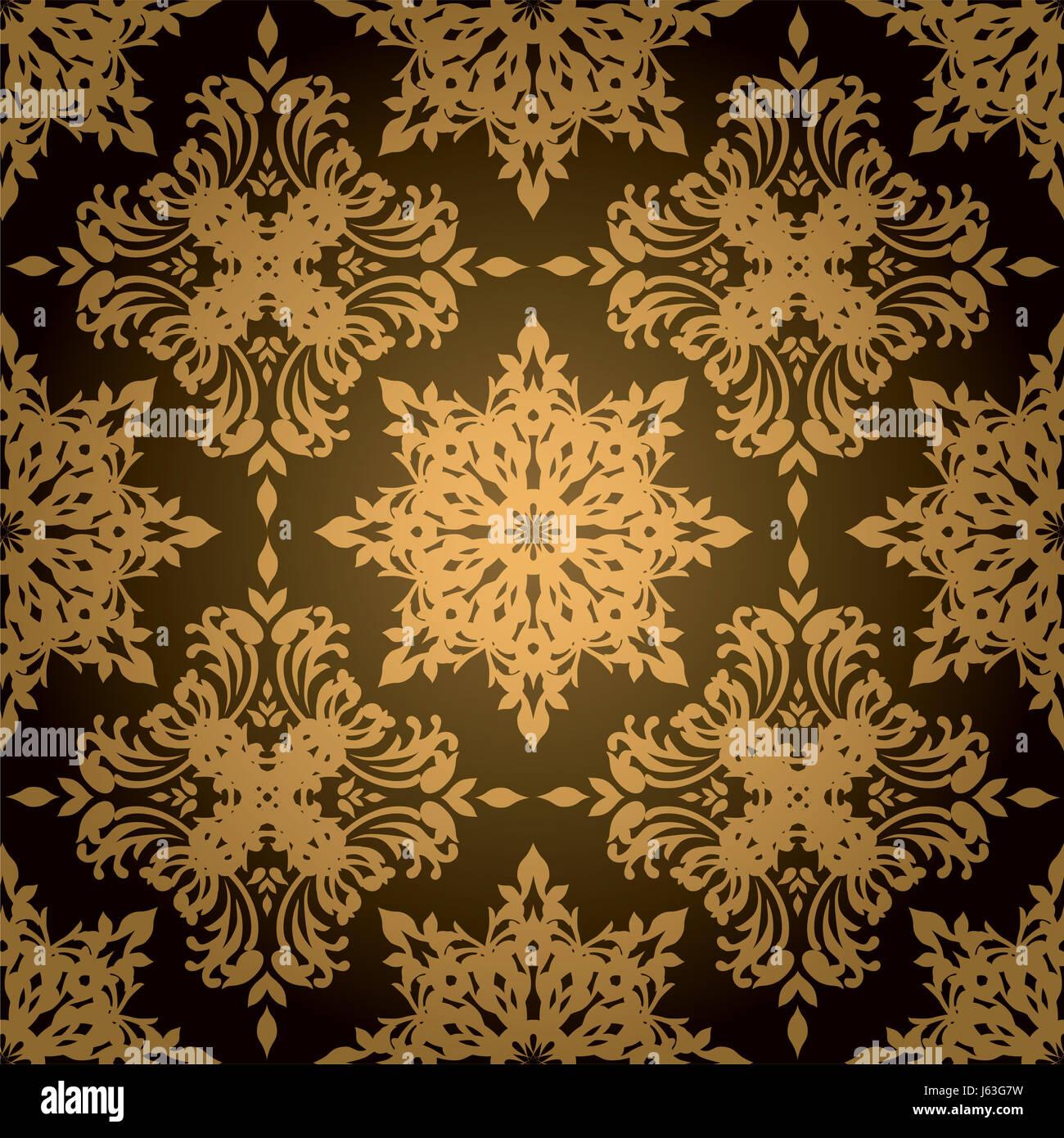 Antike Vintage Tapete Muster Fliese Organischen Hintergrund