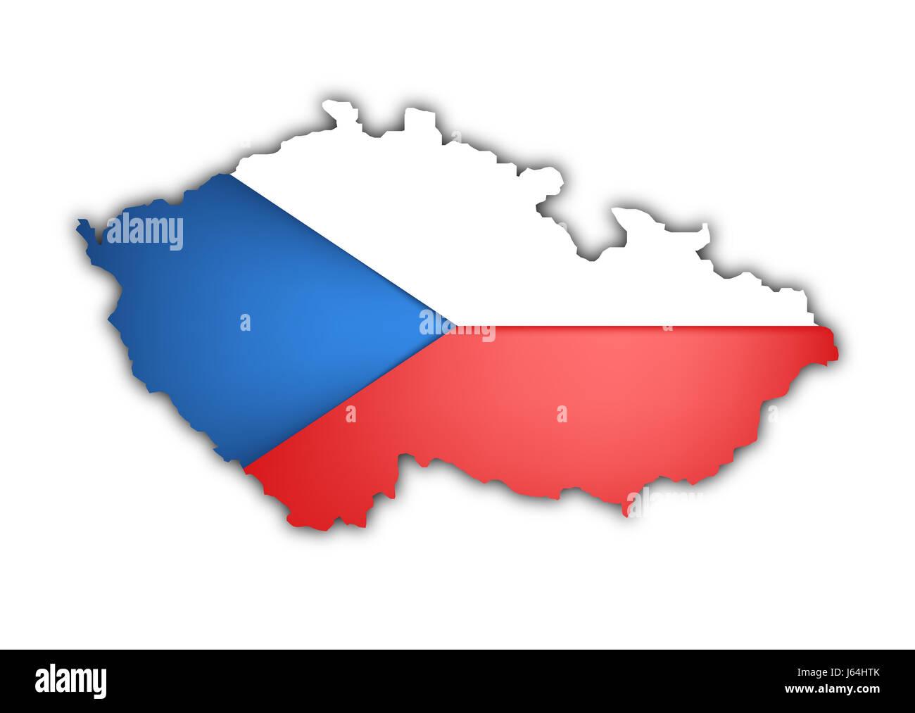 Prag Karte Europa.Europa Prag Flagge Union Republik Tschechische Karte Atlas Landkarte