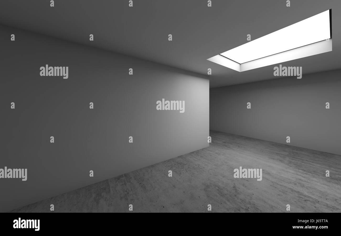 Abstrakte zeitgenössische Architektur Vorlage, leeren Raum innen ...
