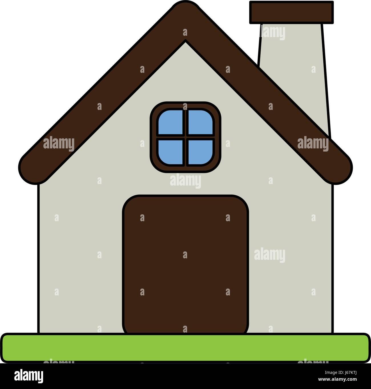Genial Fassade Haus Foto Von Farbe Bild Cartoon Komfortables Mit Kamin