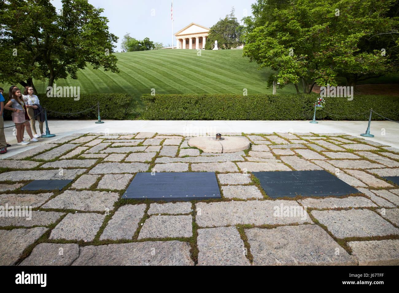 Jfk John F Kennedy Und Jacqueline Bouvier Kennedy Onassis Grabstätte