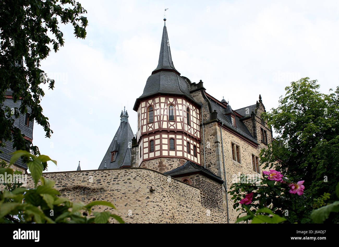 Turm-Rahmenarbeit Wachturm Schloss Burg Turm Baum Stein Fenster ...