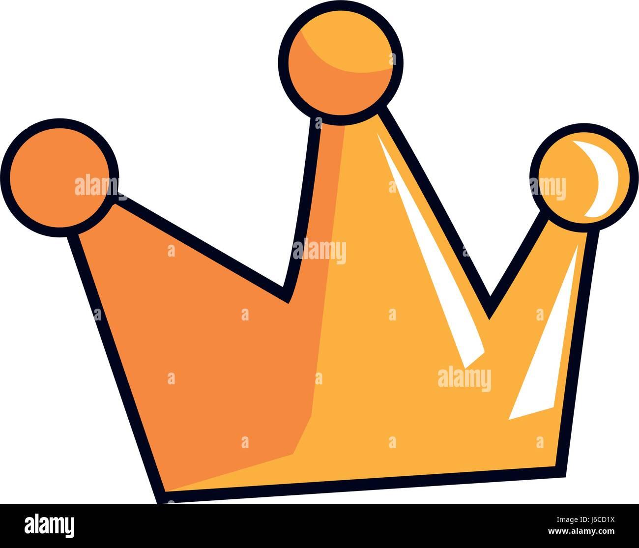 Cartoon krone k nigliche m rchen emblem vektor abbildung bild 141644550 alamy - Englisch krone ...