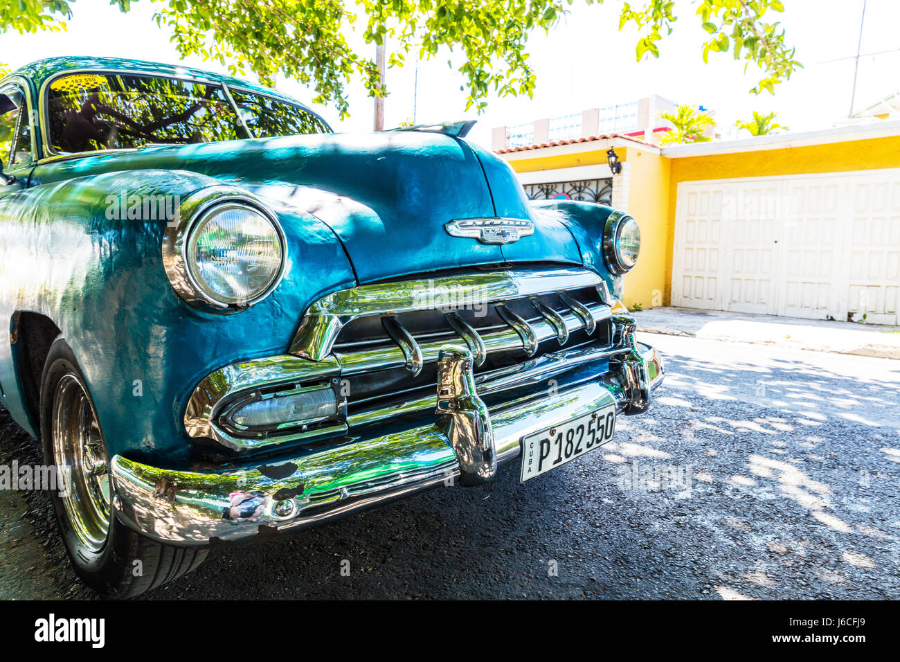 Amerikanische Oldtimer Auf Kuba Kubanische Auto Typisch