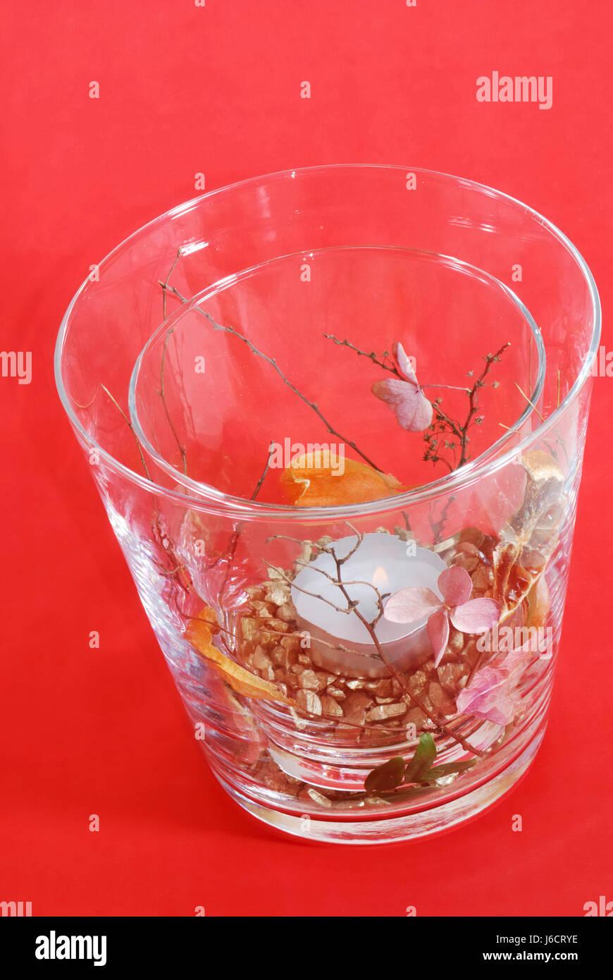 Glas Kelch Becher Kunst Kerze Deko Dekoration Vase Lichtscheibe