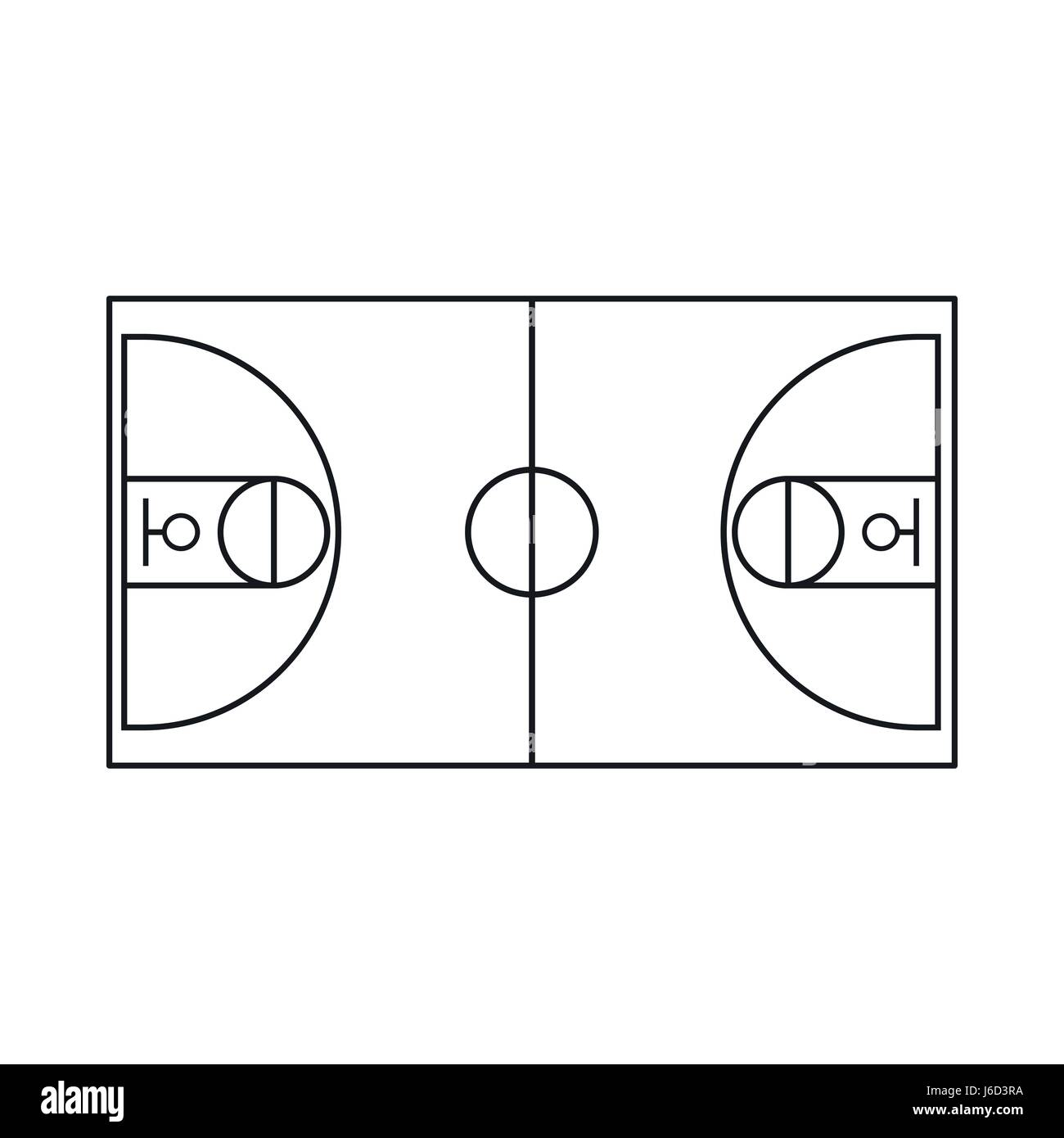 Basketball Ball Icon Outline Style Stockfotos & Basketball Ball
