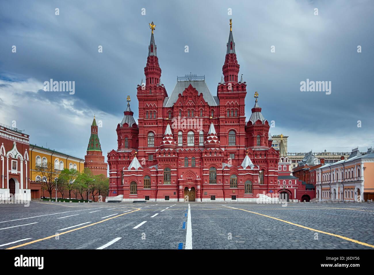 Rotes Quadrat launisch morgens - Moskau, Russland Stockbild