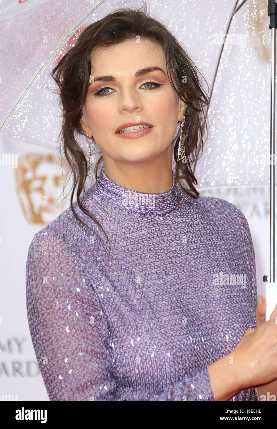 14. Mai 2017 - Aisling Bea Teilnahme an Virgin TV BAFTA TV Awards 2017 in der Royal Festival Hall in London, England, Stockbild