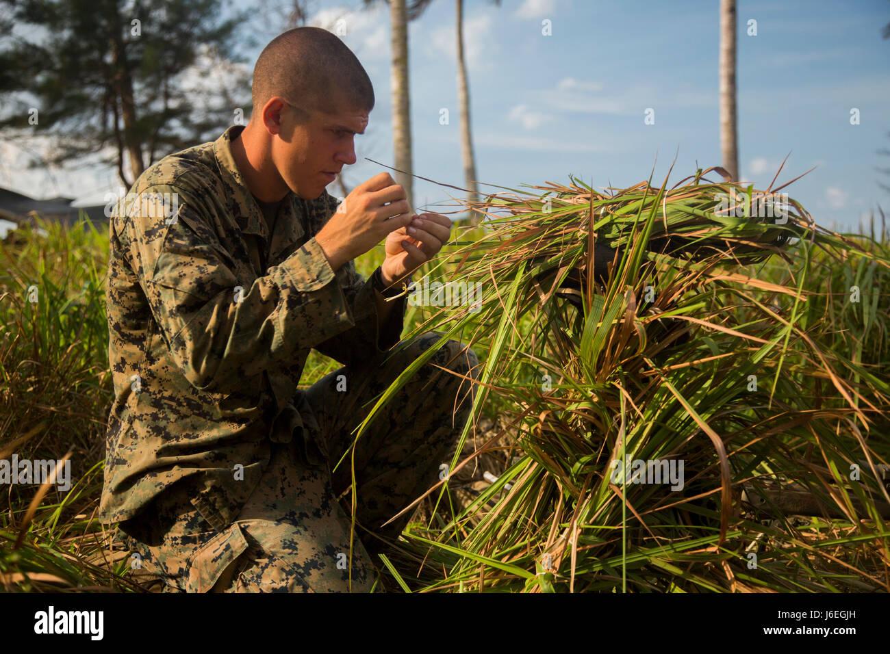 Us Marine Corps Sgt Curt Cebula Ein Scout Sniper Mit Golf Company