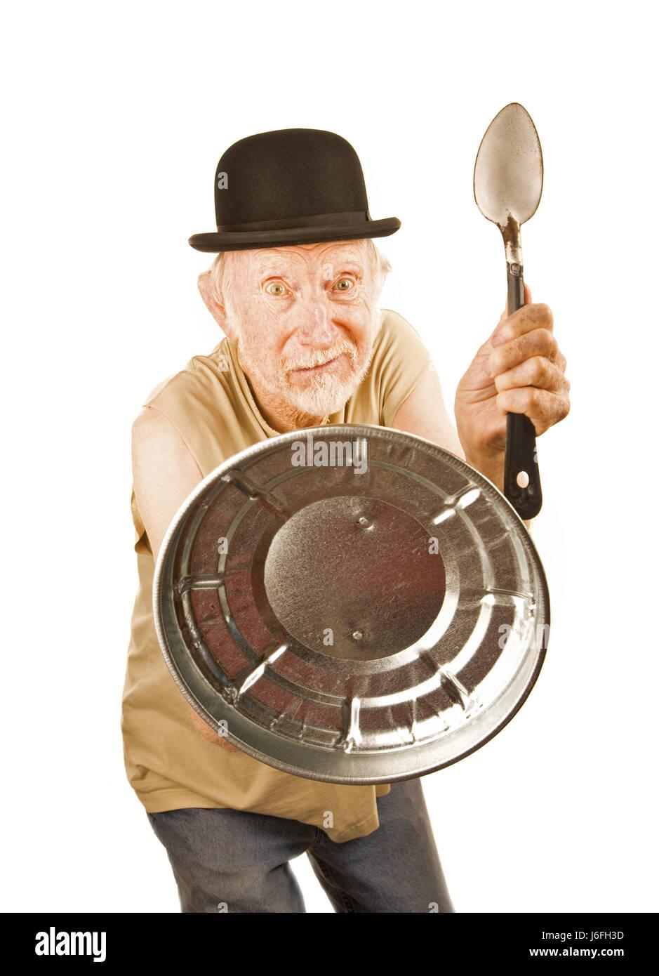 verrückte exzentrischen alten verrückte älteren Mann senior Senioren ältere person Stockbild