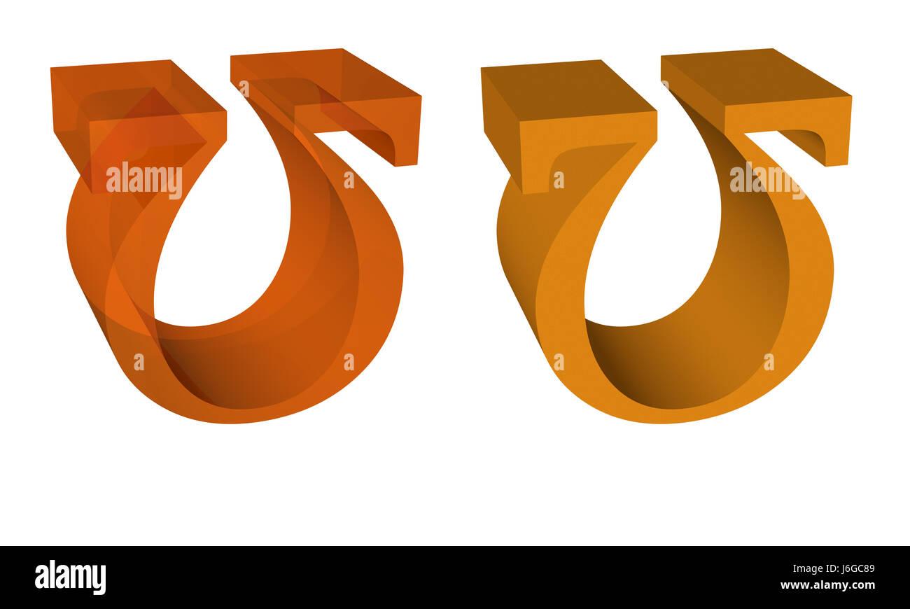 Zeichen signalisieren Widerstand Omega elektrische Piktogramm Symbol ...