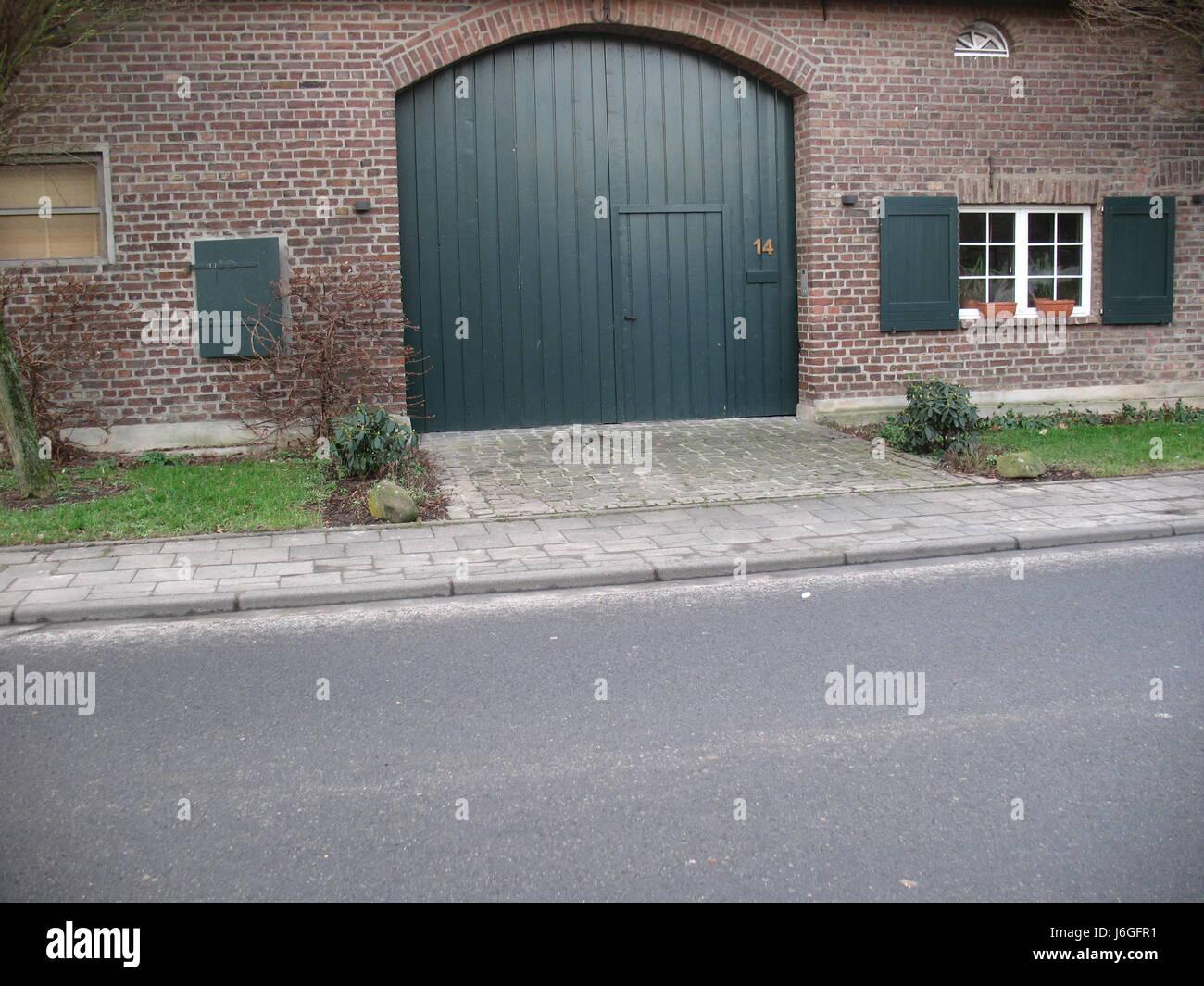 Garage Backstein Scheune Klinker Kreisbogen Garage Tur Haus Gebaude
