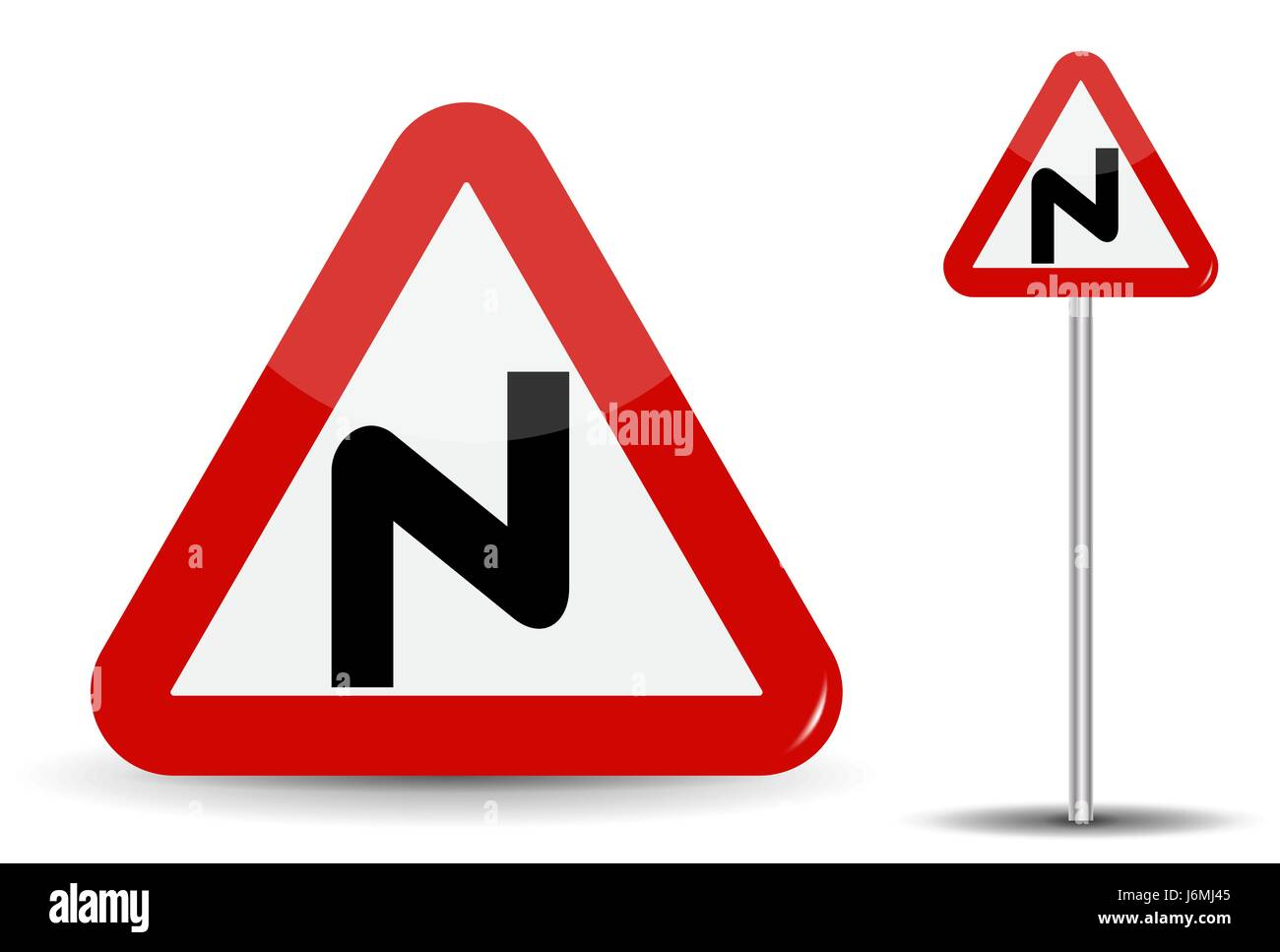 Warning To Drive Carefully Stockfotos & Warning To Drive Carefully ...