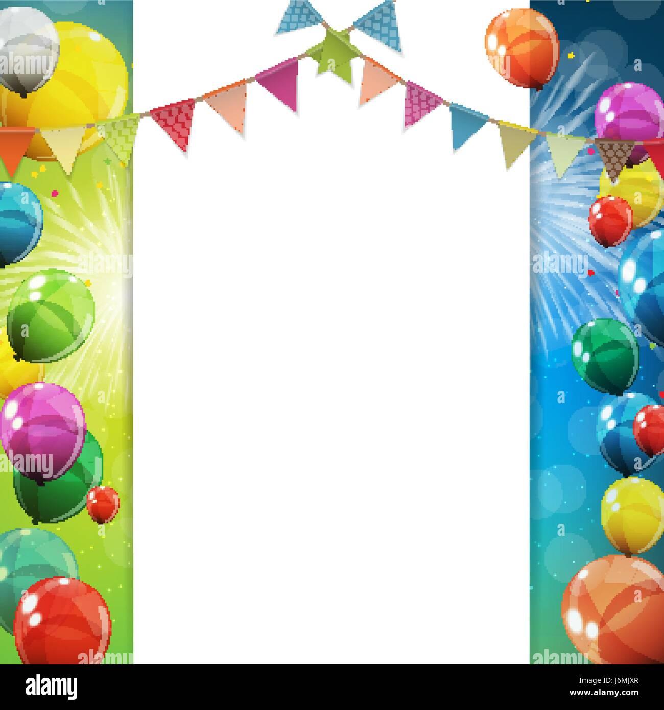 Party Balloons Air Celebration Vector Stockfotos & Party Balloons ...