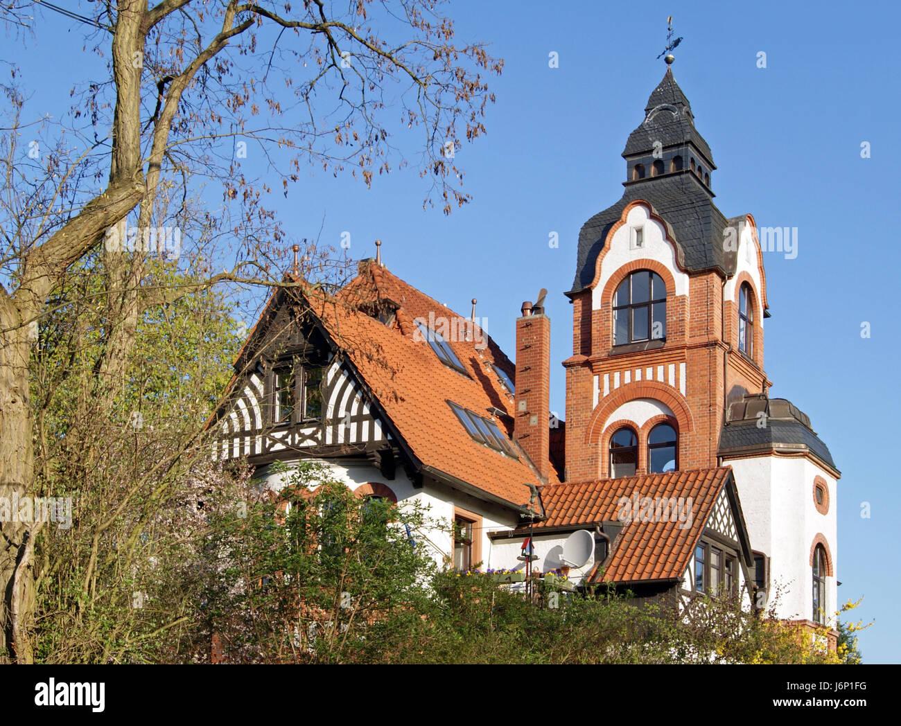 Turm Industrialisierung Rahmenarbeit Villa Hannover Linden Baum ...