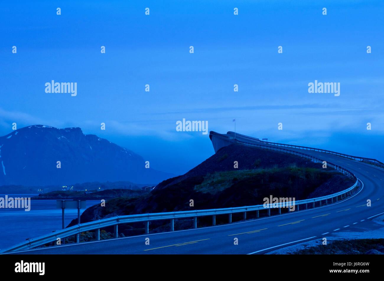 Fahrspaß pur - Atlantikstraße, Norwegen Stockfoto