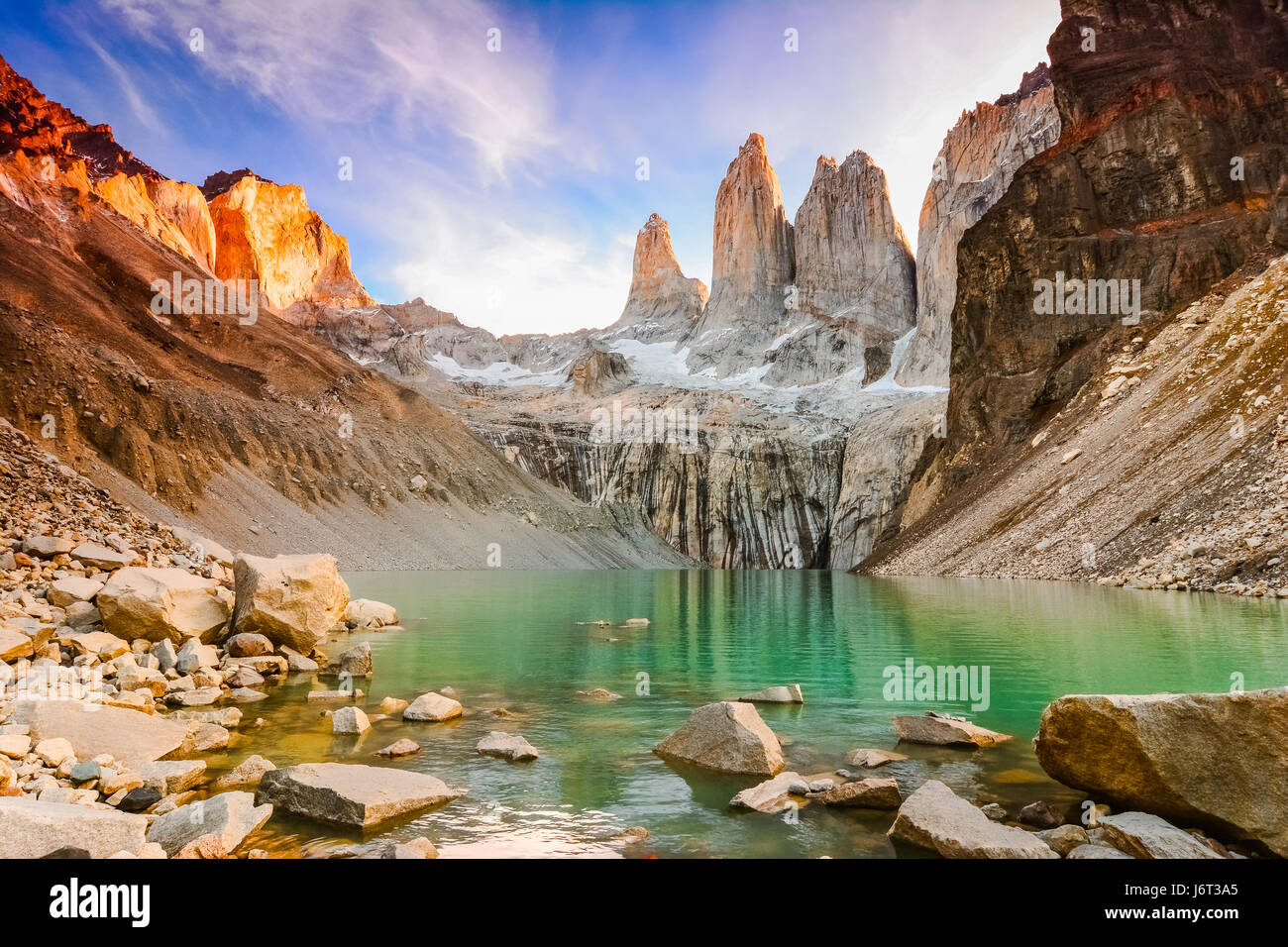 Torres del Paine Nationalpark, Patagonien, Chile Stockbild