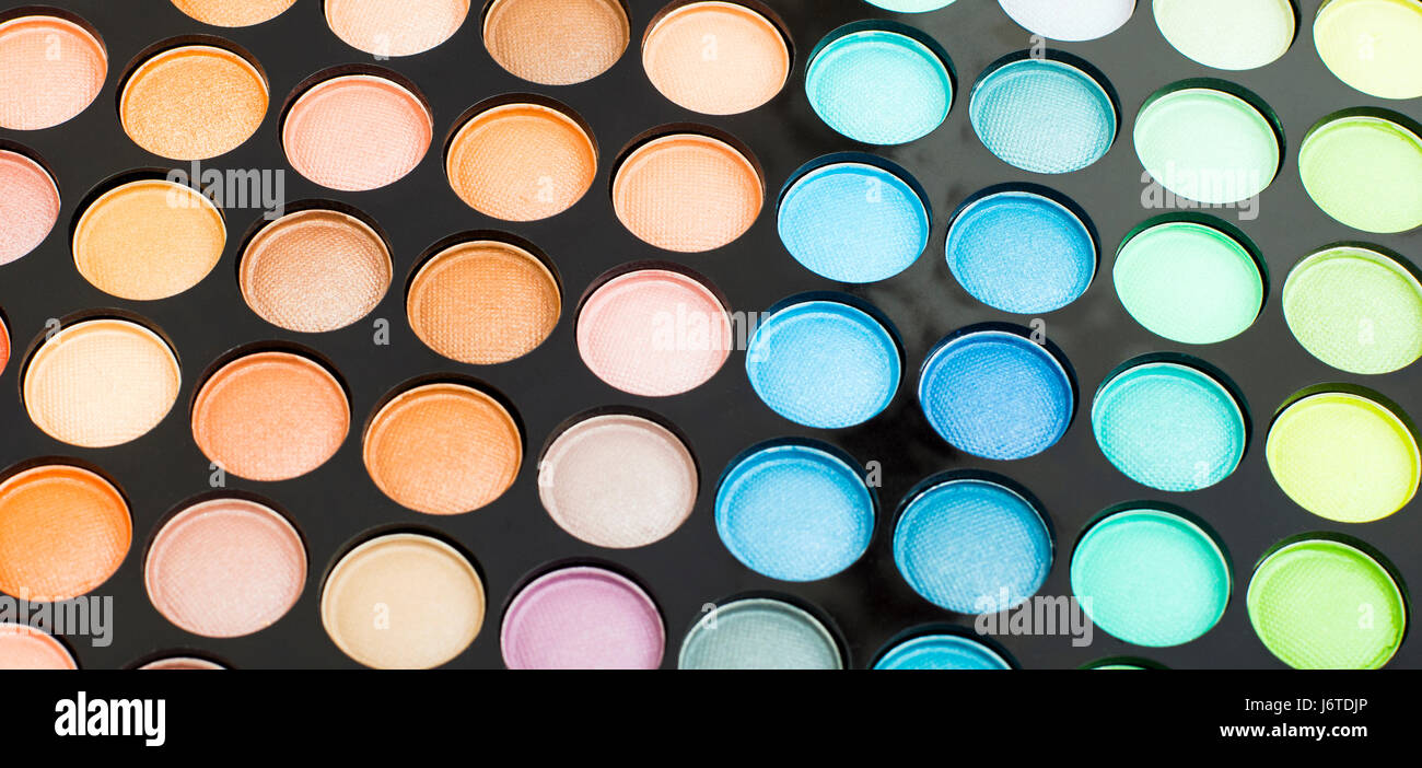 Make-up Lidstrich Palet Closeup Hintergrund Stockbild