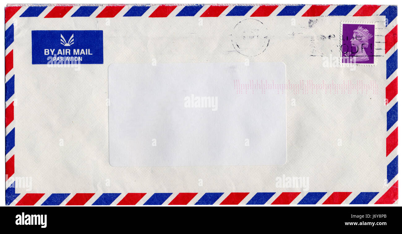 Brief Post Post Umschlag Briefmarke Königlichen Schreiben Schrieb