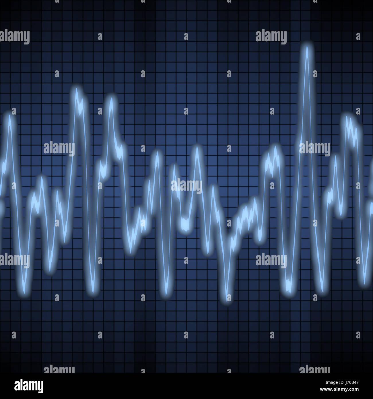blauen Ton Audiodiagramm Welle Musik Klang Elektronik Wissenschaft ...