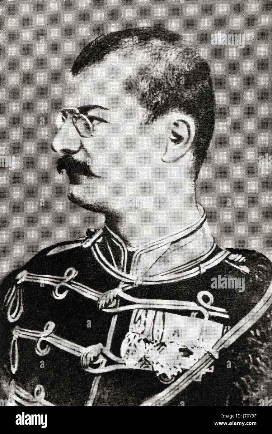 Alexander ich oder Aleksandar Obrenovi?, 1876 ? 1903.  König von Serbien.  Hutchinson Geschichte der Nationen Stockbild
