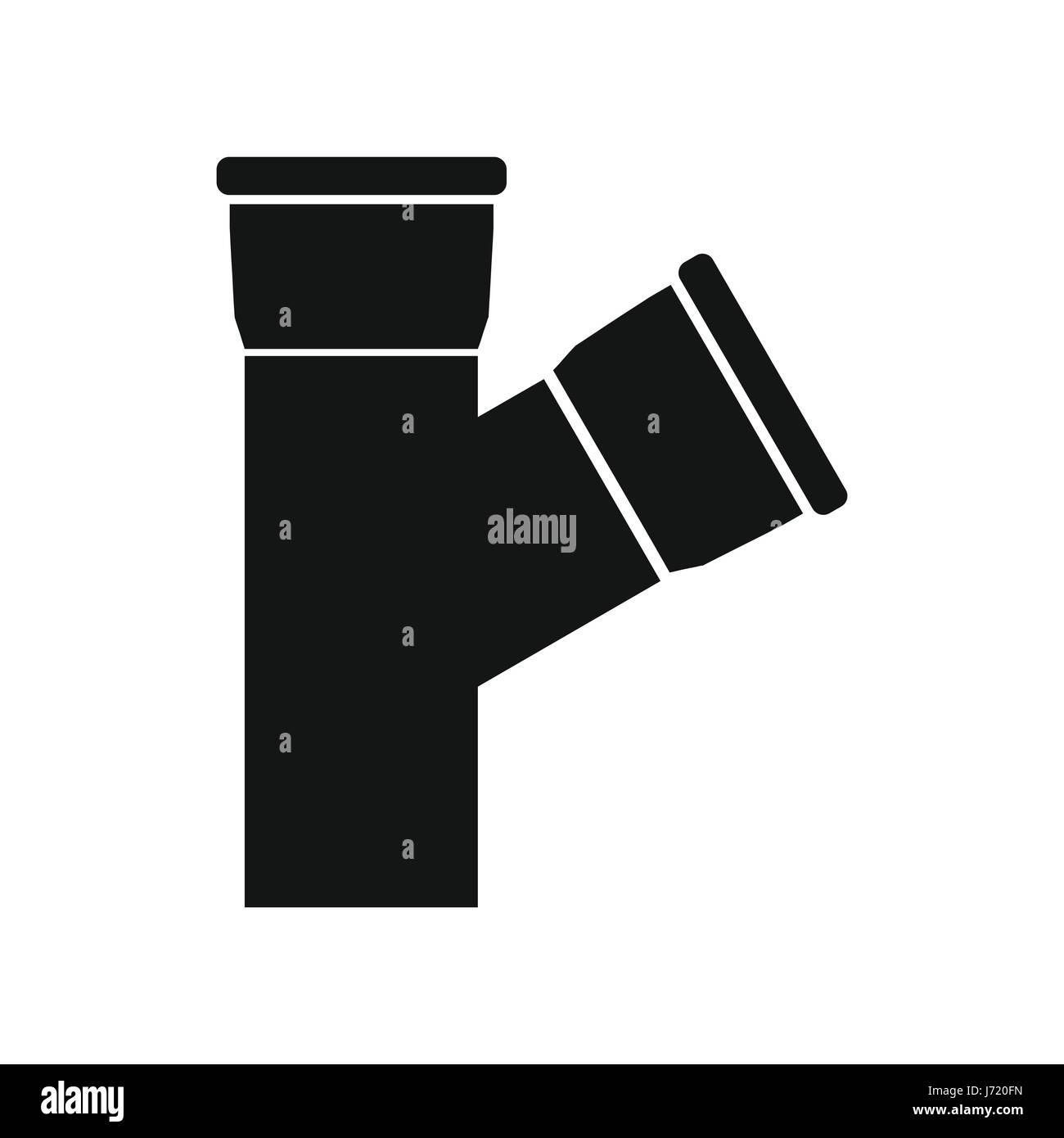 Kunststoffrohr-Verbindungssymbol, einfachen Stil Vektor Abbildung ...