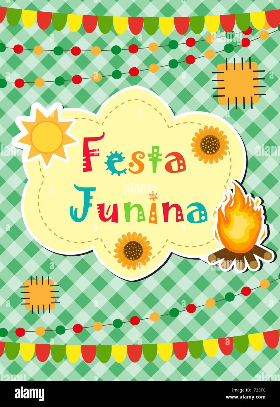 Festa Junina Grußkarte Einladung Plakat Brasilianische
