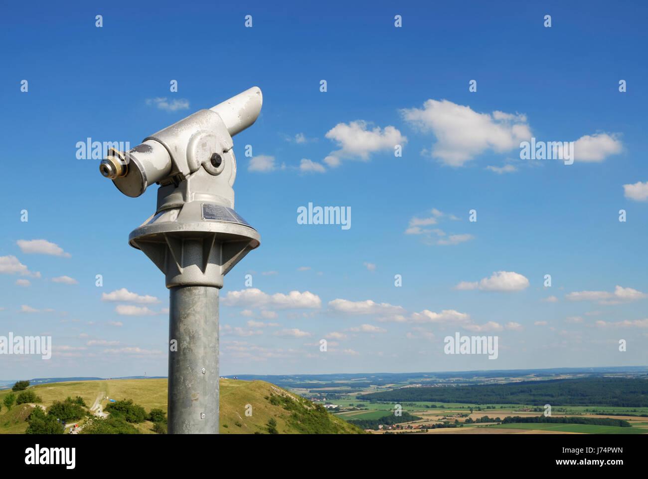 Beobachtung linse teleskop monokular blauer hügel beobachtung