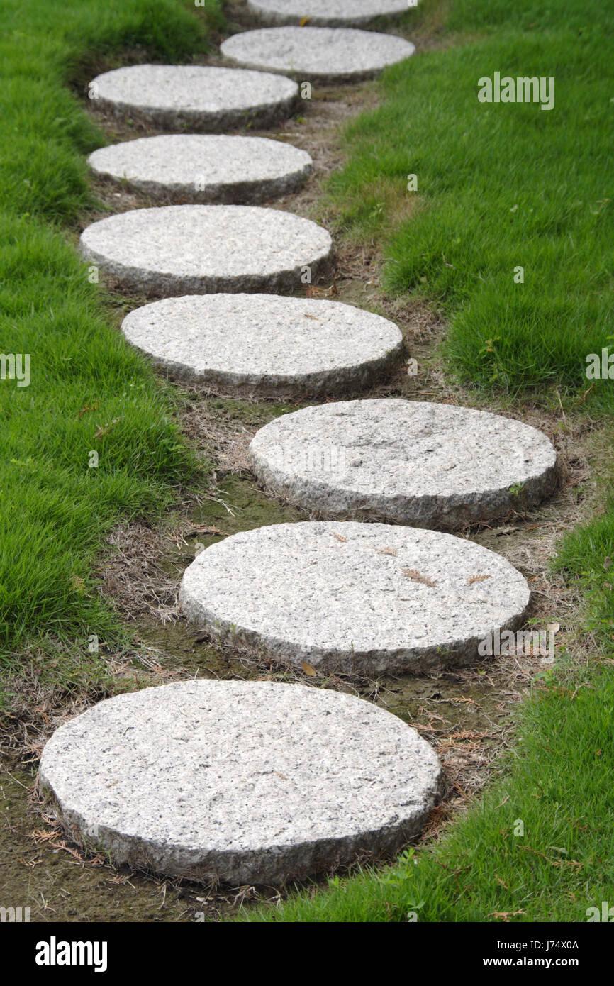 garten stein felsen schritt gehweg straße straße gartenstein