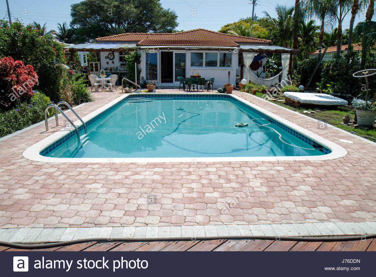 Miami Beach Florida Normandie Küste Biscayne Bay Wohn Garten ...
