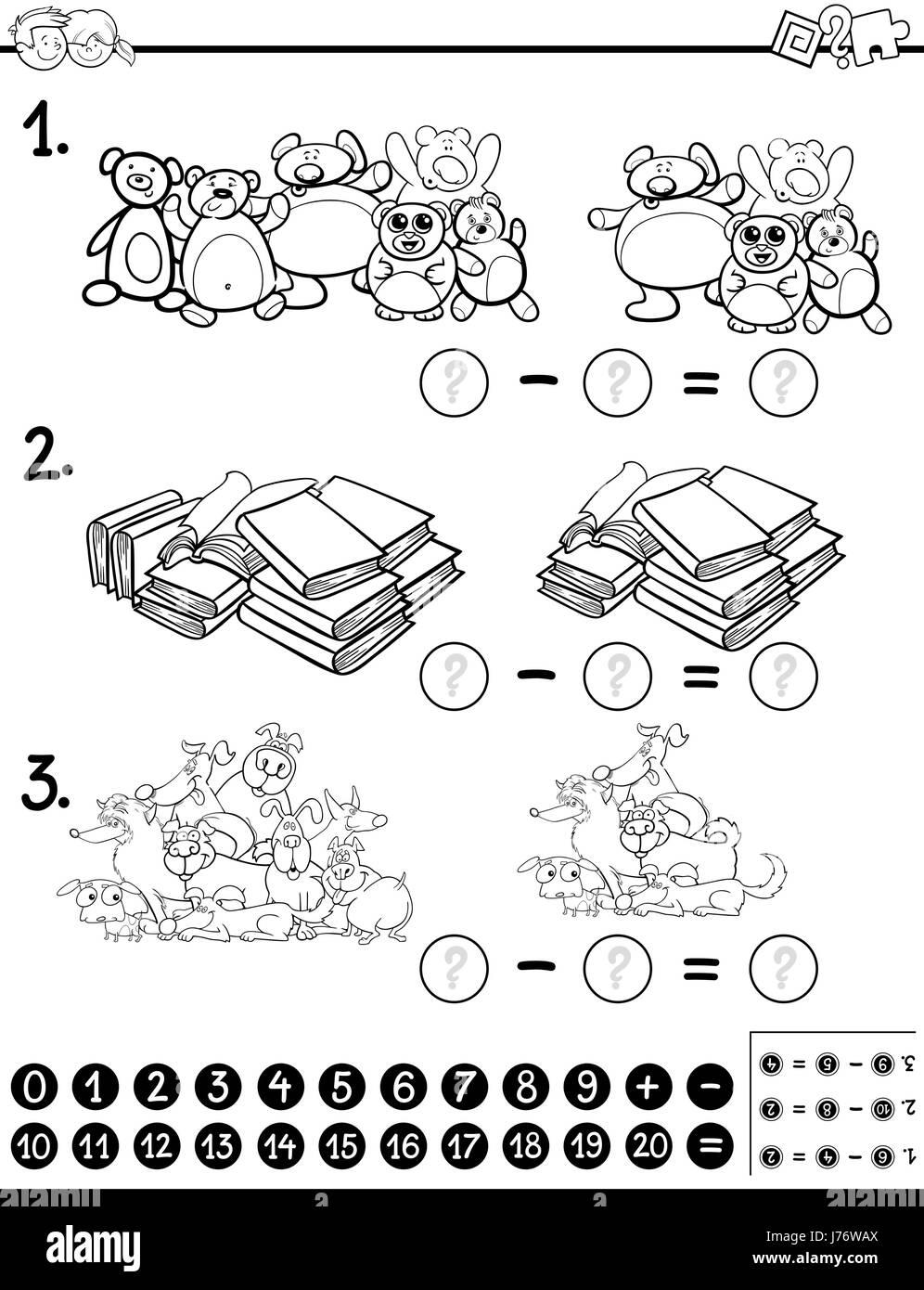 Subtraction Cartoon Stockfotos & Subtraction Cartoon Bilder - Alamy