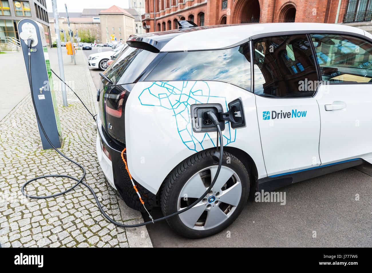 Berlin Deutschland 14 April 2017 Elektro Auto Modell Bmw I3