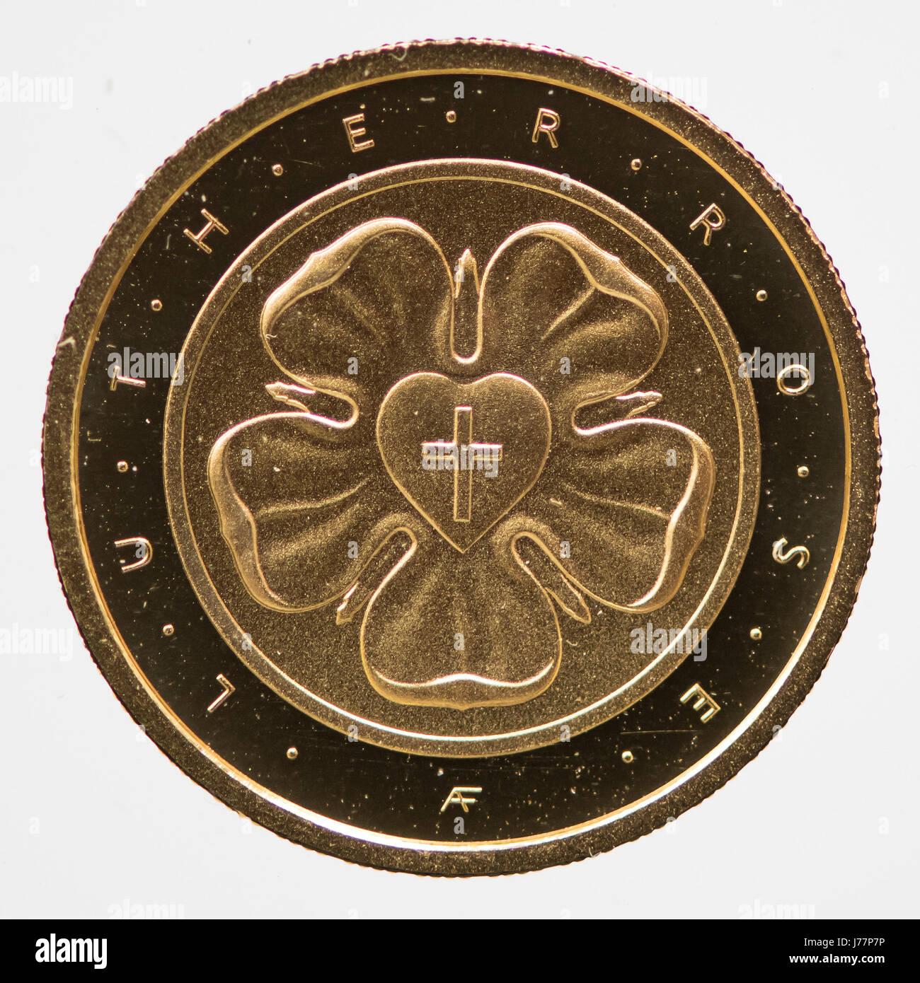 Die Neue 50 Euro Luther Rose Reformation Gedenkmünze In München