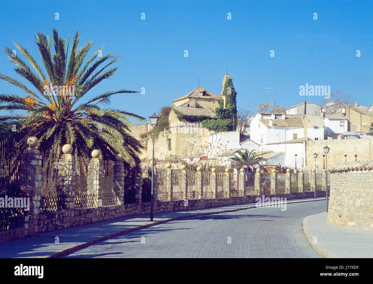 Straße. Ubeda, Provinz Jaen, Andalusien, Spanien. Stockbild