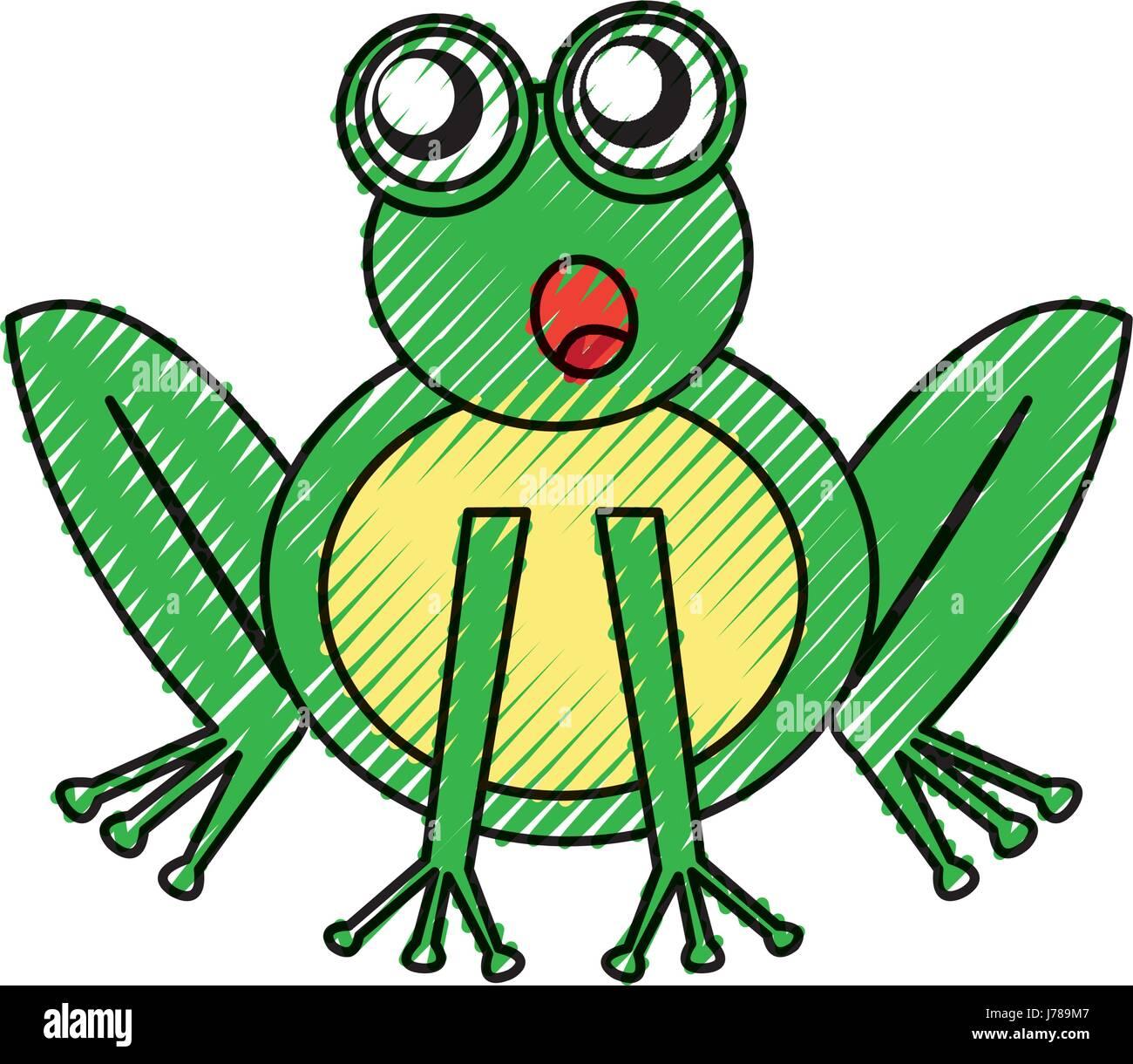 Comic Frosch Zeichen Symbol Vektor Abbildung Bild 142168775 Alamy
