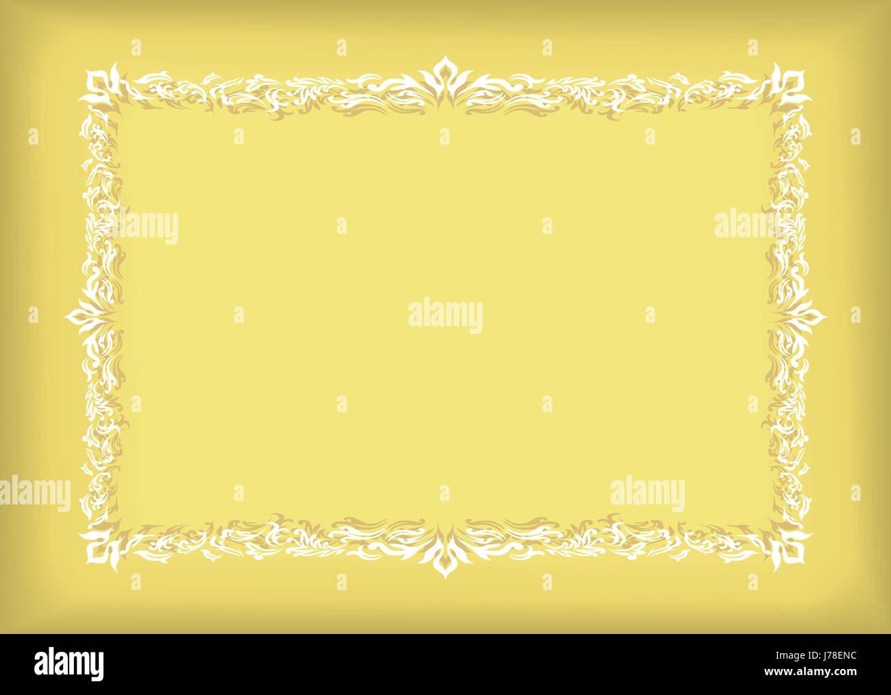 klassische abstrakte Dokument Zertifikat Frame Hintergrund ...