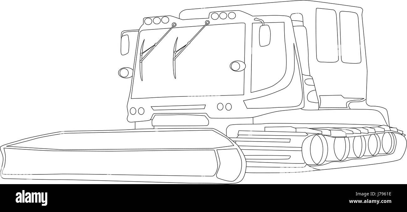 Isolierte Farbe Abbildung Zeichnen Cartoon Locomotive Zug Lokomotive