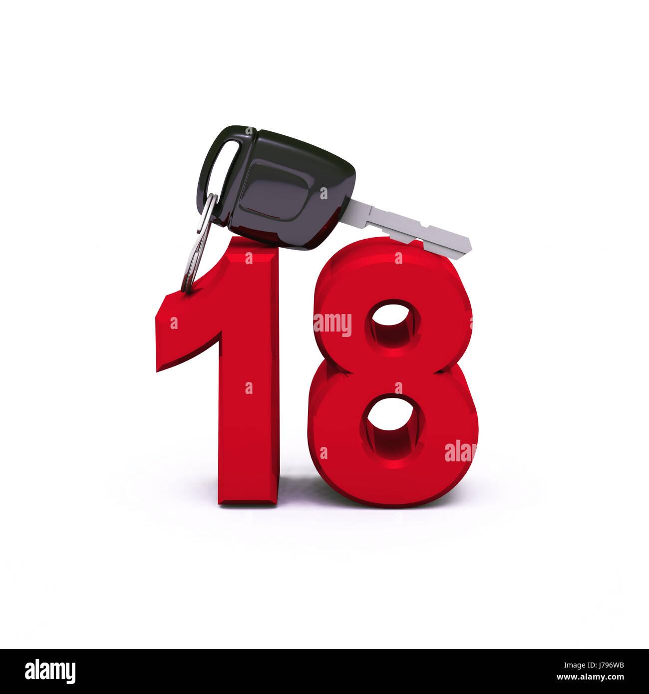 Vergütungspolitik 18 - Führerscheine - rot Stockfoto